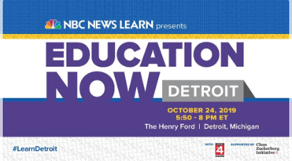 Education Now Image with DPSCD in the News on October 24, 2019