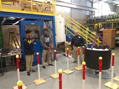 Student learning new concept at Manufacturing Day