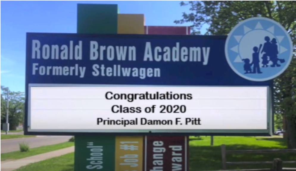 Ronald Brown Academy School Marquee