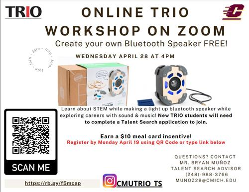 a flyer of the online workshop