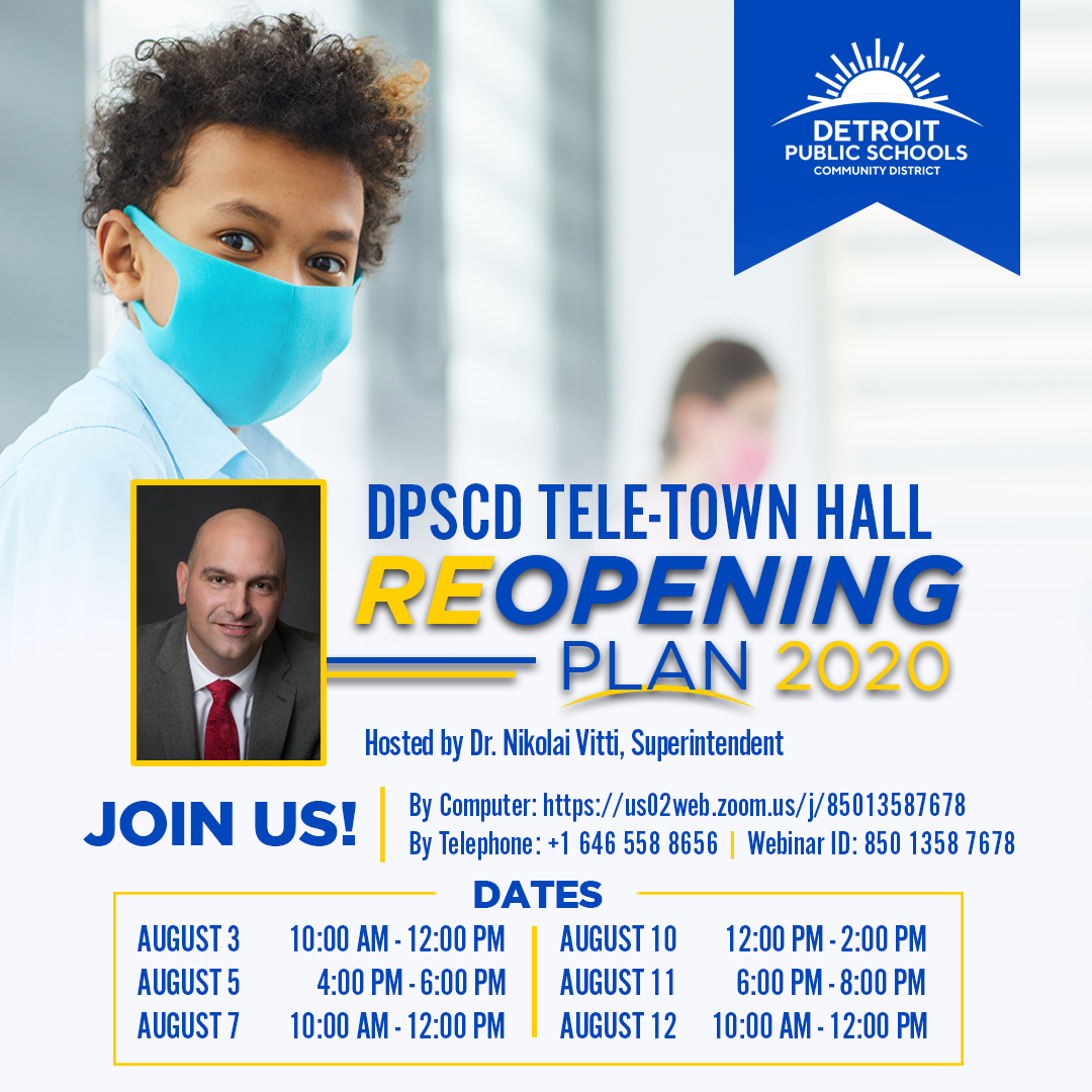 Mark your calendars and join Dr. Vitti as he goes into detail about our Reopening Plan