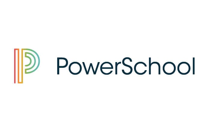 The Powerschool logo of a capital P