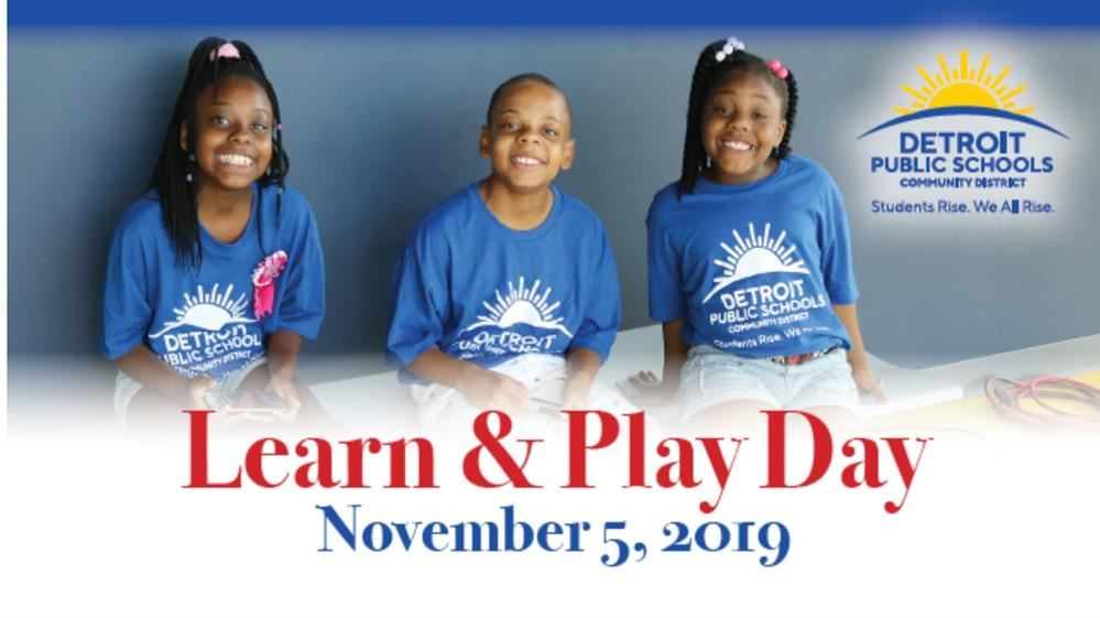 students from learn and play flyer