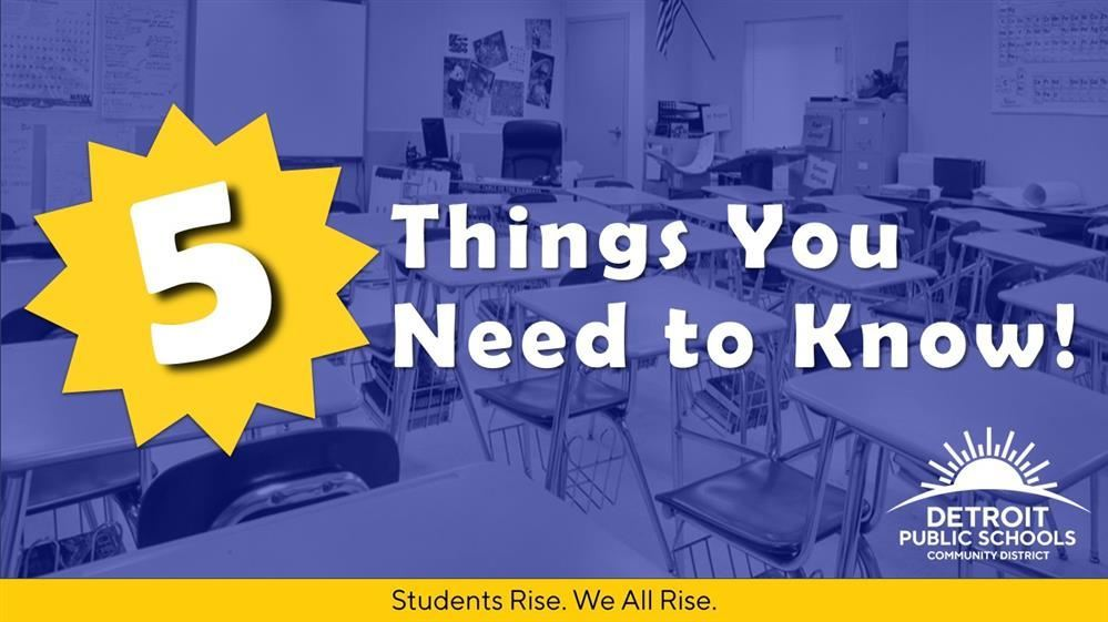 5 Things you need to know poster